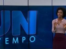 Nova garota do tempo corrige William Bonner ao vivo no Jornal Nacional