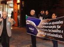 Jornalistas protestam contra demissões e precarização do trabalho em SP