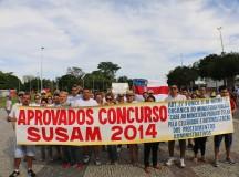 Esperando convocação há 1 ano e 4 meses, aprovados em concurso da Susam chamam a atenção do governo na Ponta Negra, no AM
