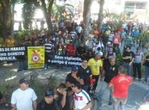 Paralisação de vigilantes atinge agências bancárias do centro de Manaus, no Am