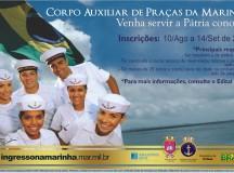 CONCURSO PÚBLICO: Marinha do Brasil inicia inscrições para Nível Técnico
