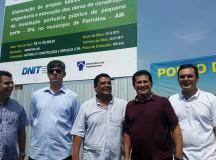 Deputado Alfredo Nascimento deu início neste sábado às obras de construção do porto da Vila Amazônica, em Parintins