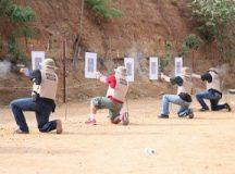 Magistrados de Tocantins fazem treinamento de tiro e defesa pessoal