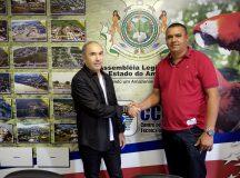 Vereador Clemysson Marques de Codajás(AM) busca Aleam para atualizar leis municipais