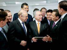 Deputado Adjuto Afonso participa de reunião com Michel Temer sobre reformas