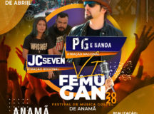 Cantor PG se apresenta no 6º FEMUGAN, nos dia 3 e 4 de abril em Anamã, no AM