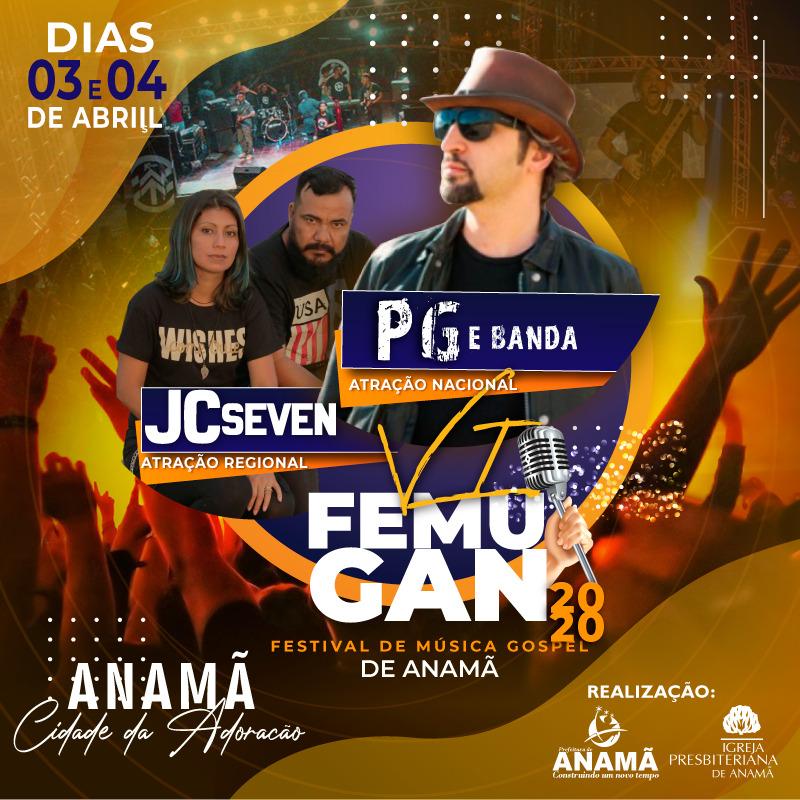 Abertas inscrições para VI Festival de Música Gospel de Anamã , o FEMUGAN 2020