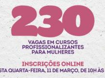 Prefeitura de Manaus oferta 230 vagas gratuitas para cursos profissionalizantes para mulheres
