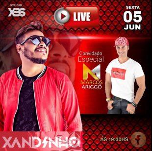 Xandinho e Marcos Ariggó apresentam Live para comemorar 18 anos de música, nesta sexta (05)