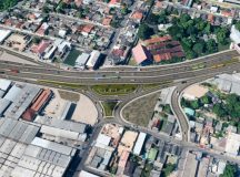 Linhas de ônibus são desviadas durante obra do complexo viário do Manoa em Manaus