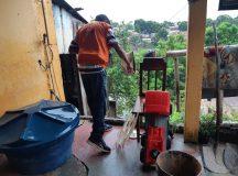 Prefeitura de Manaus realiza pronto atendimento a ocorrências causadas pela chuva deste sábado
