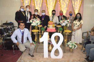 Arimateia Viana prestigia culto de celebração dos 18 anos da Congregação IPUB-Tancredo Neves 2 em Manaus