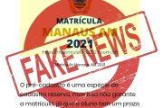 Prefeitura de Manaus emite Nota à Sociedade