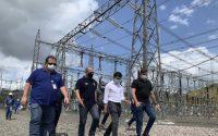 o Ministro de Minas e Energia, Bento Albuquerque, realizou uma visita técnica à subestação de Laranjal do Jari, no interior do Amapá, da empresa Linhas Macapá de Transporte e Energia, a fim de acompanhar as ações de restabelecimento total da energia no estado.