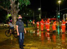 Prefeitura de Manaus realiza sanitização em áreas públicas no combate à Covid-19