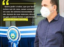 COVID-19: Ex-prefeito de Tefé convoca a população para que mantenha os protocolos de segurança