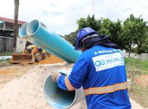 Águas de Manaus moderniza rede de abastecimento que beneficiará 70 mil moradores da zona Centro-Oeste