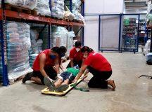 Grupo Tapajós realiza simulado com evacuação de área e socorro a vítimas